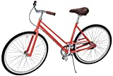 Critical Cycles Mixte 3-Speed City Coaster Commuter Bicycle, Coral, 49cm/Small