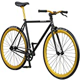 Pure Fix Original Fixed Gear Single Speed Bicycle, India Matte Black/Babylon Gold, 58cm/Large