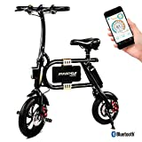 SWAGTRON SwagCycle E-Bike – Folding Electric Bicycle with 10 Mile Range, Collapsible Frame, and Handlebar Display  (Black)