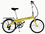 Ford by Dahon Convertible 7 Speed Folding Bicycle, Yellow